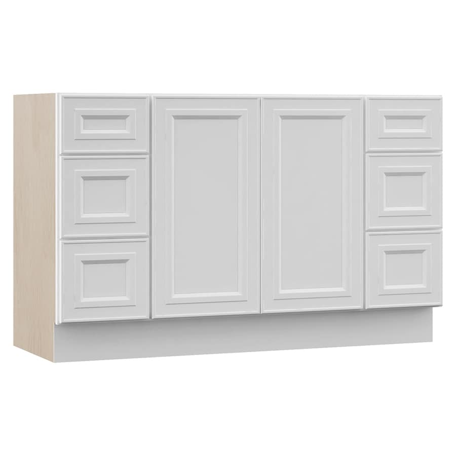 VILLA BATH by RSI White Bathroom Vanity (Common: 48-in x 21-in; Actual: 48-in x 21.5-in)