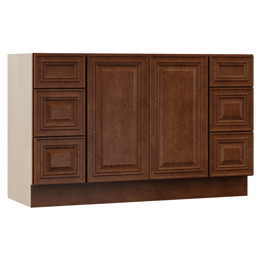 VILLA BATH by RSI Cognac Bathroom Vanity (Common: 48-in x 21-in; Actual: 48-in x 21.5-in)