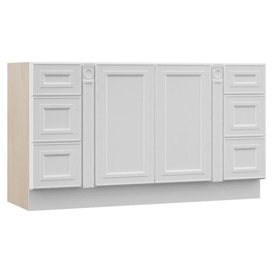 VILLA BATH by RSI White Bathroom Vanity (Common: 50-in x 21-in; Actual: 54-in x 21.5-in)