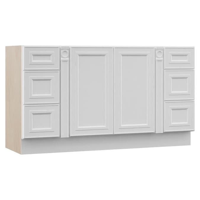 Villa Bath By Rsi Catalina 54 In White Bathroom Vanity Cabinet In The Bathroom Vanities Without Tops Department At Lowes Com