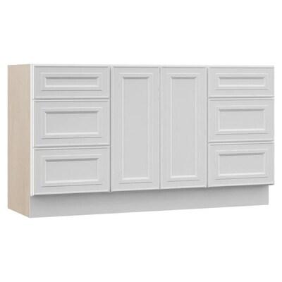 Catalina 60 In White Bathroom Vanity Cabinet