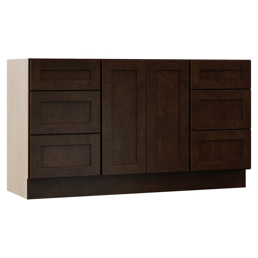 VILLA BATH by RSI Sanabelle Java Bathroom Vanity (Common: 60-in x 21-in; Actual: 60-in x 21.5-in)