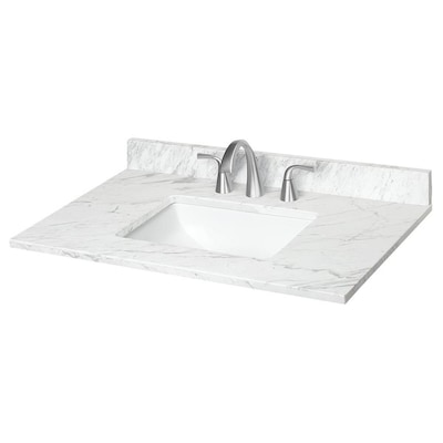 37 In Ariston Natural Marble Single Sink Bathroom Vanity Top In The Bathroom Vanity Tops Department At Lowes Com