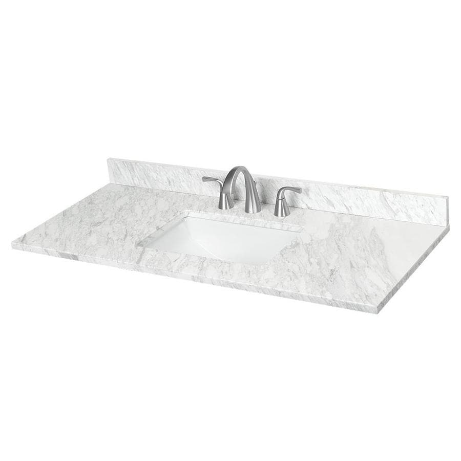 shop ariston natural marble undermount bathroom vanity top