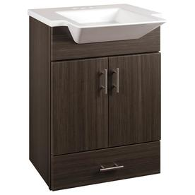 Elegant Style Selections Euro Gray Integrated Single Sink Bathroom Vanity With  Cultured Marble Top (Common: