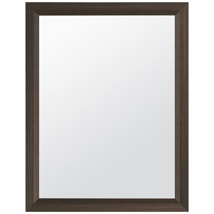 Shop Style Selections 24-in Gray Rectangular Bathroom Mirror at ...