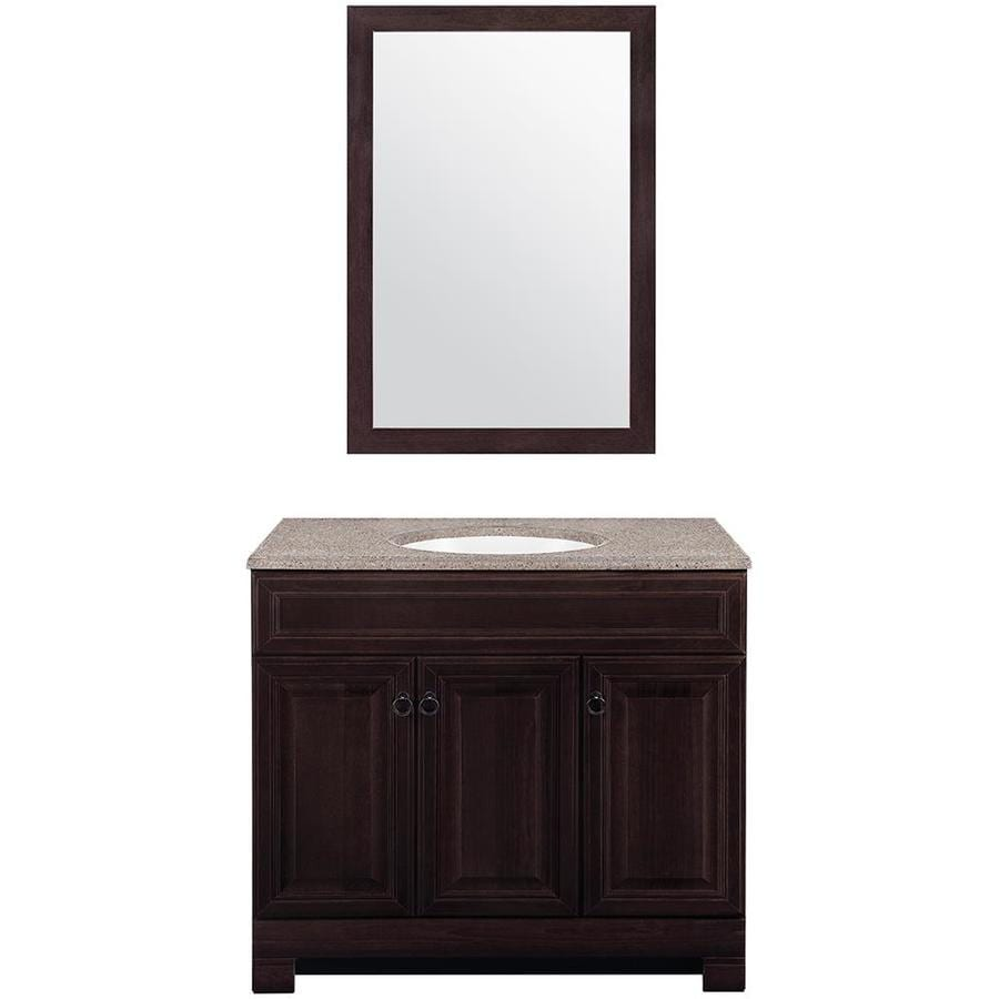 Style Selections Gladmere Java Self Rimming Single Sink Bathroom Vanity With Solid Surface Top