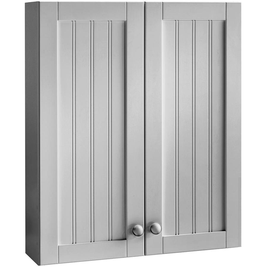 Shop style selections 23 in gray ellenbee wall cabinet 23 for In wall bathroom storage