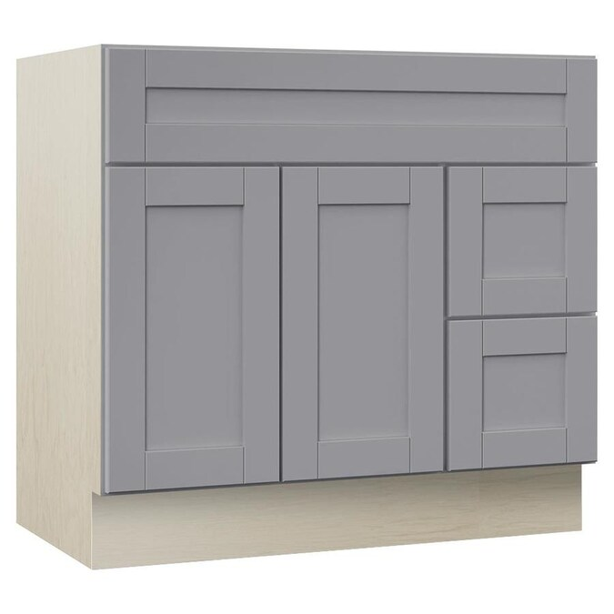 Villa Bath By Rsi Sanabelle 36 In Gray Bathroom Vanity Cabinet In The Bathroom Vanities Without Tops Department At Lowes Com