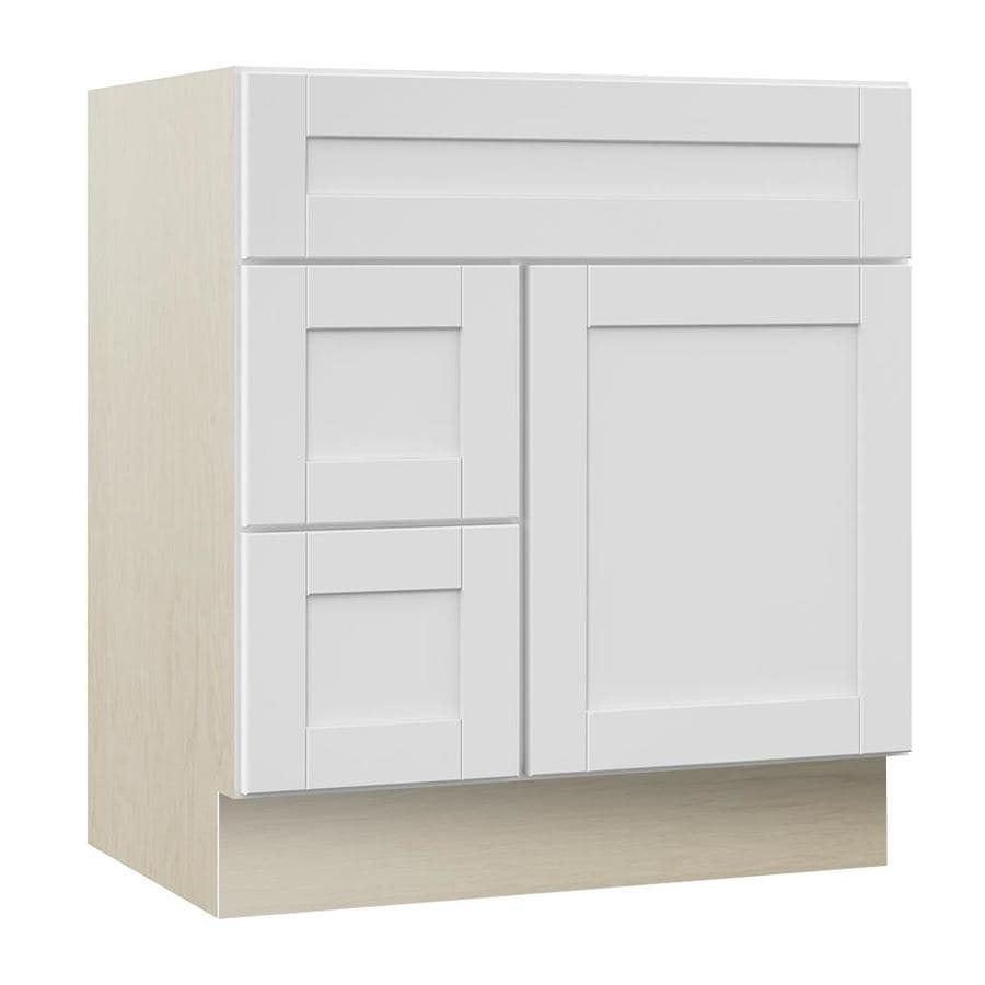 Shop VILLA BATH by RSI Sanabelle Freestanding White Bathroom Vanity ...