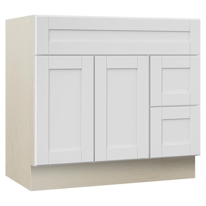 Villa Bath By Rsi Sanabelle 36 In White Bathroom Vanity Cabinet In The Bathroom Vanities Without Tops Department At Lowes Com