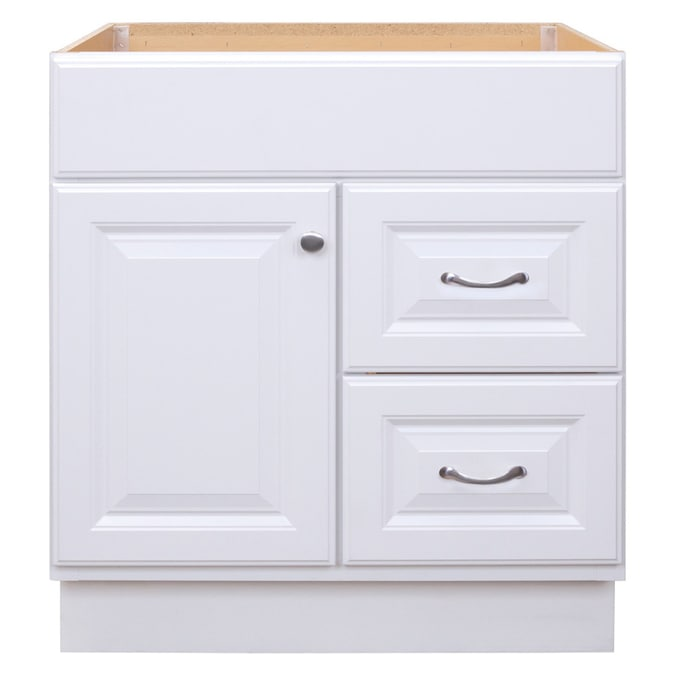 Project Source 30 In White Bathroom Vanity Cabinet In The Bathroom Vanities Without Tops Department At Lowes Com