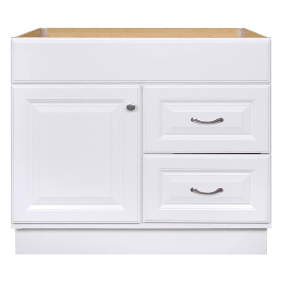 Shop Project Source Floor Mount White 36-in x 21-in Traditional ...