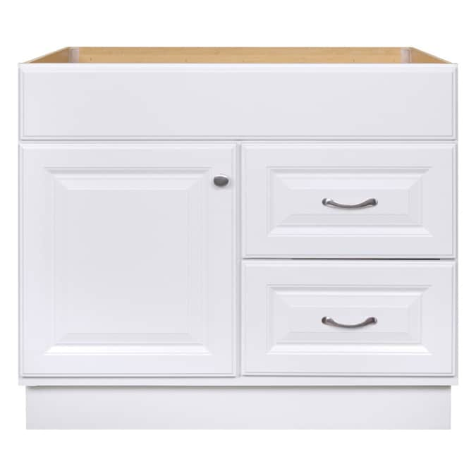 Project Source 36 In White Bathroom Vanity Cabinet In The Bathroom Vanities Without Tops Department At Lowes Com