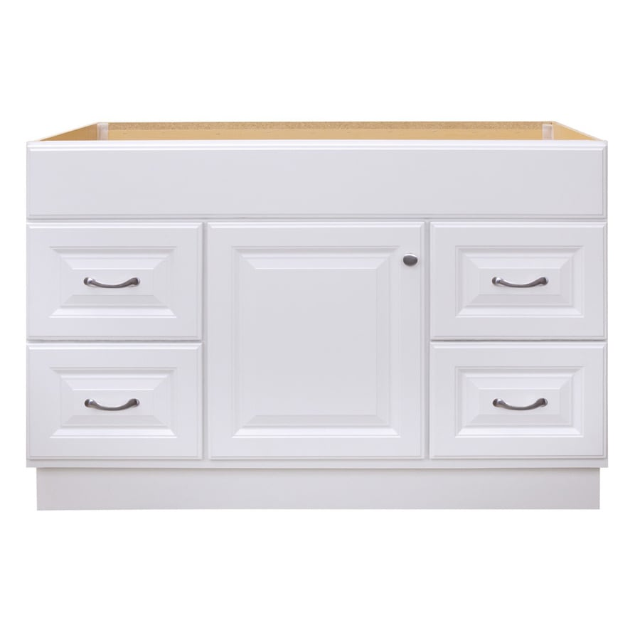 Project Source 48 In White Bathroom Vanity Cabinet