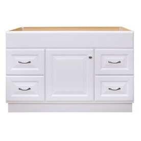 Diamond Now Calhoun 48 In White Bathroom Vanity Cabinet In The Bathroom Vanities Without Tops Department At Lowes Com