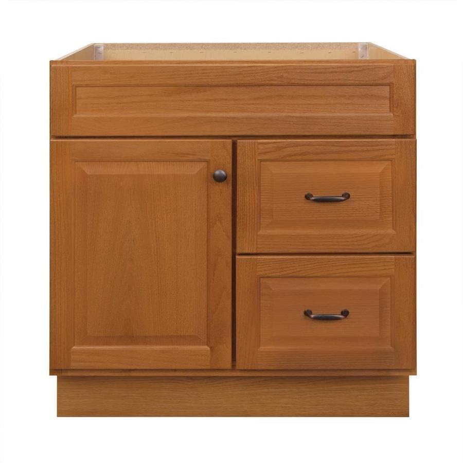 Project Source 30 In Golden Bathroom Vanity Cabinet At