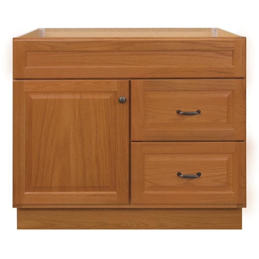 Project Source 36 In Golden Bathroom Vanity Cabinet At