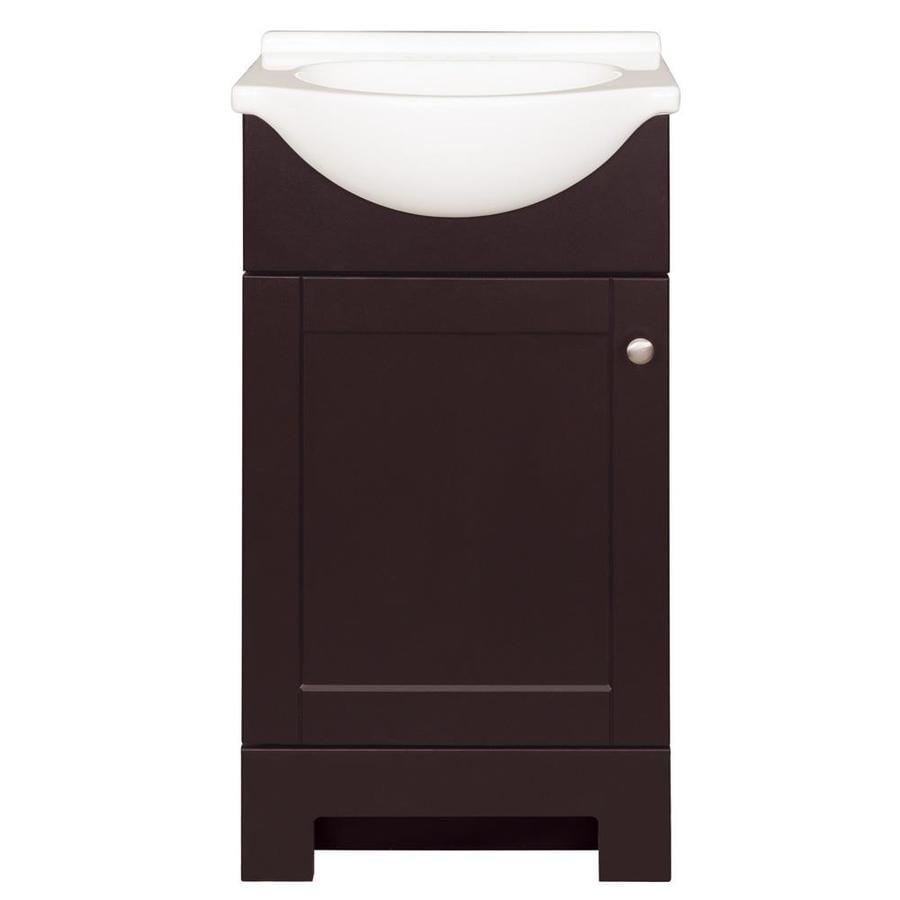 Style Selections Euro 19-in Espresso Single Sink Bathroom ...