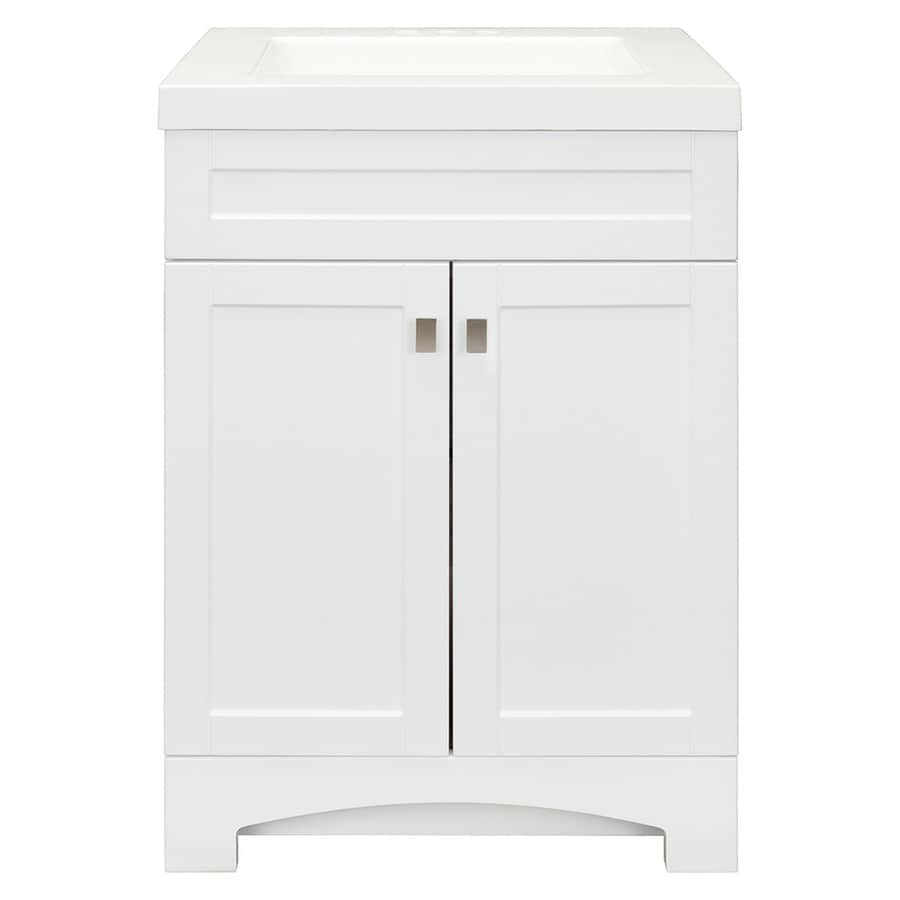 a3ab389d463 Style Selections Drayden 24.5-in White Single Sink Bathroom Vanity with White  Cultured Marble Top