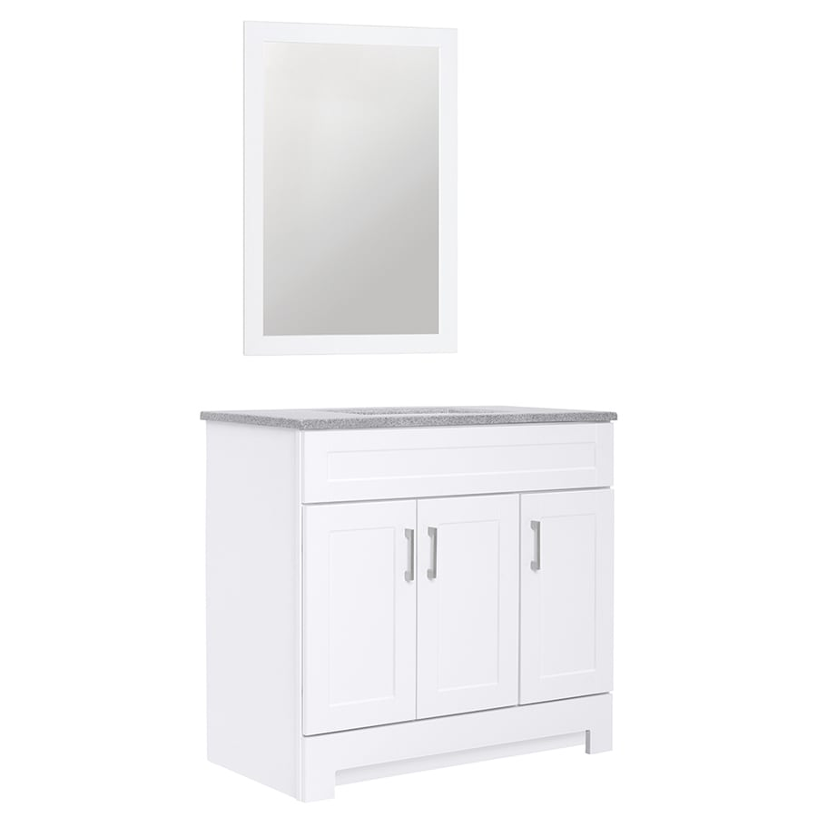 Style Selections White Single Sink Vanity w/ Surface Top