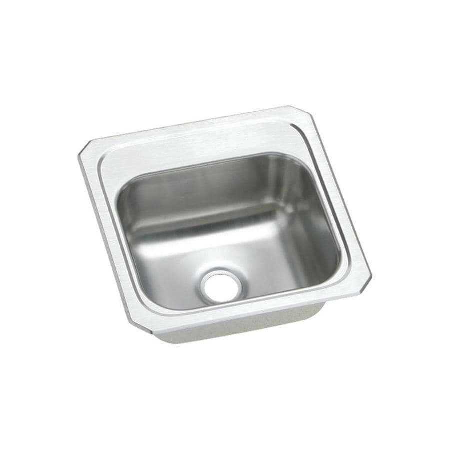 Elkay Gourmet Brushed Satin Stainless Steel Drop-in Residential Bar Sink