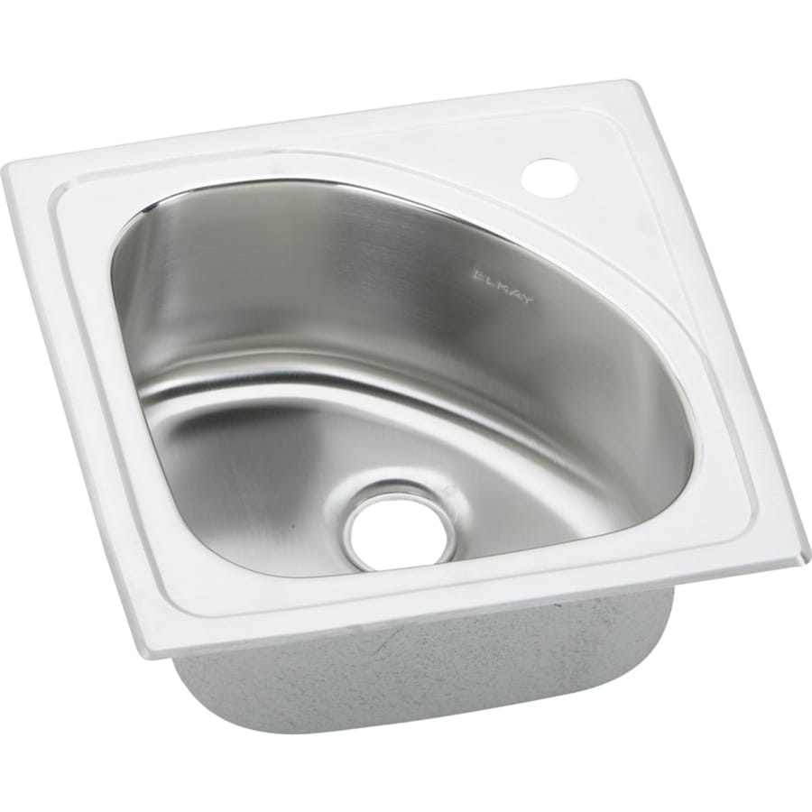 Elkay Harmony Lustrous Highlighted Satin 1-Hole Stainless Steel Drop-in Residential Bar Sink