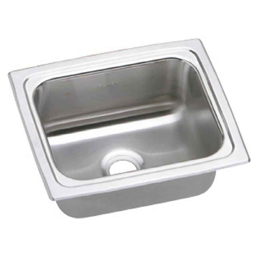 Elkay Gourmet Brilliant Satin Stainless Steel Drop-in Residential Bar Sink