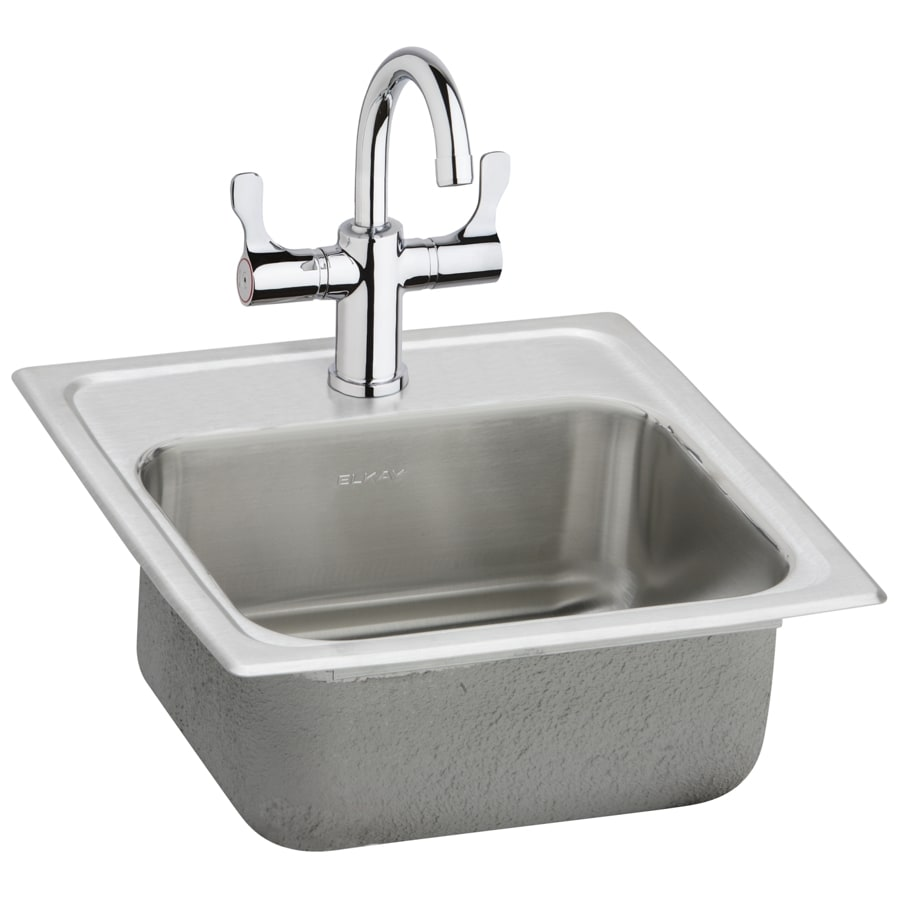 Elkay Gourmet Brilliant Satin 1-Hole Stainless Steel Drop-in Residential Bar Sink