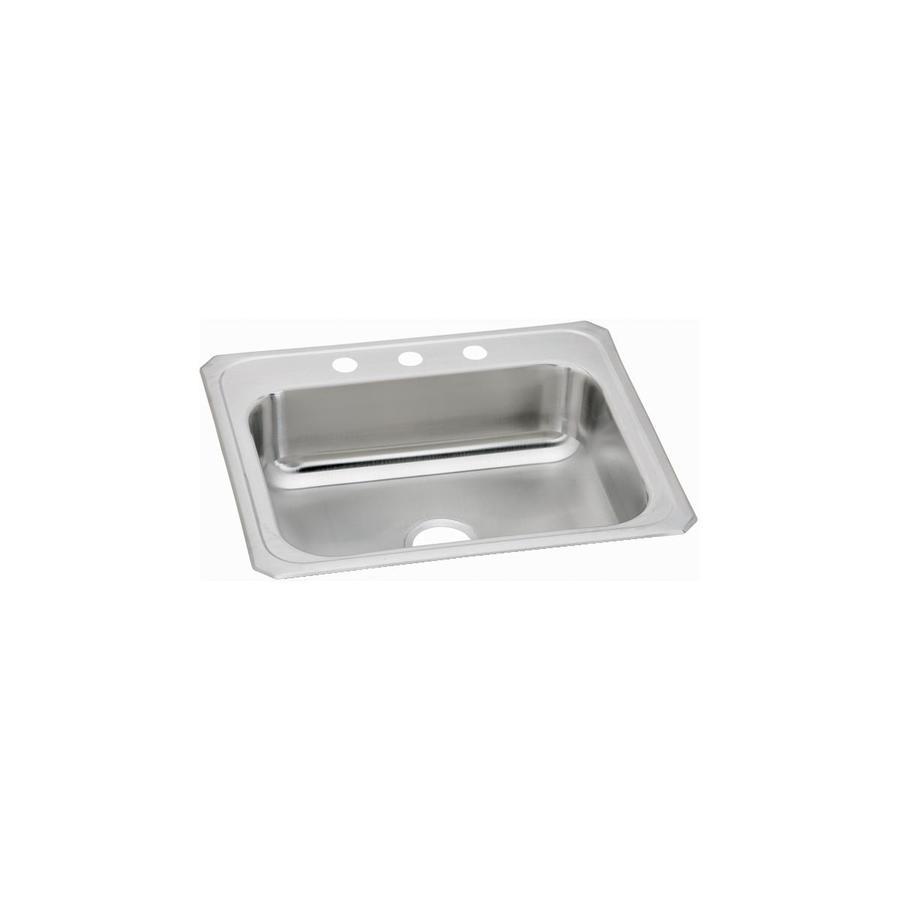 Elkay Pacemaker 21.25-in x 25-in Single-Basin Stainless Steel Drop-In Kitchen Sink