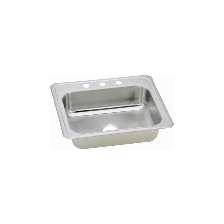 Elkay 21.25-in x 25-in Single-Basin Stainless Steel Drop-In Kitchen Sink
