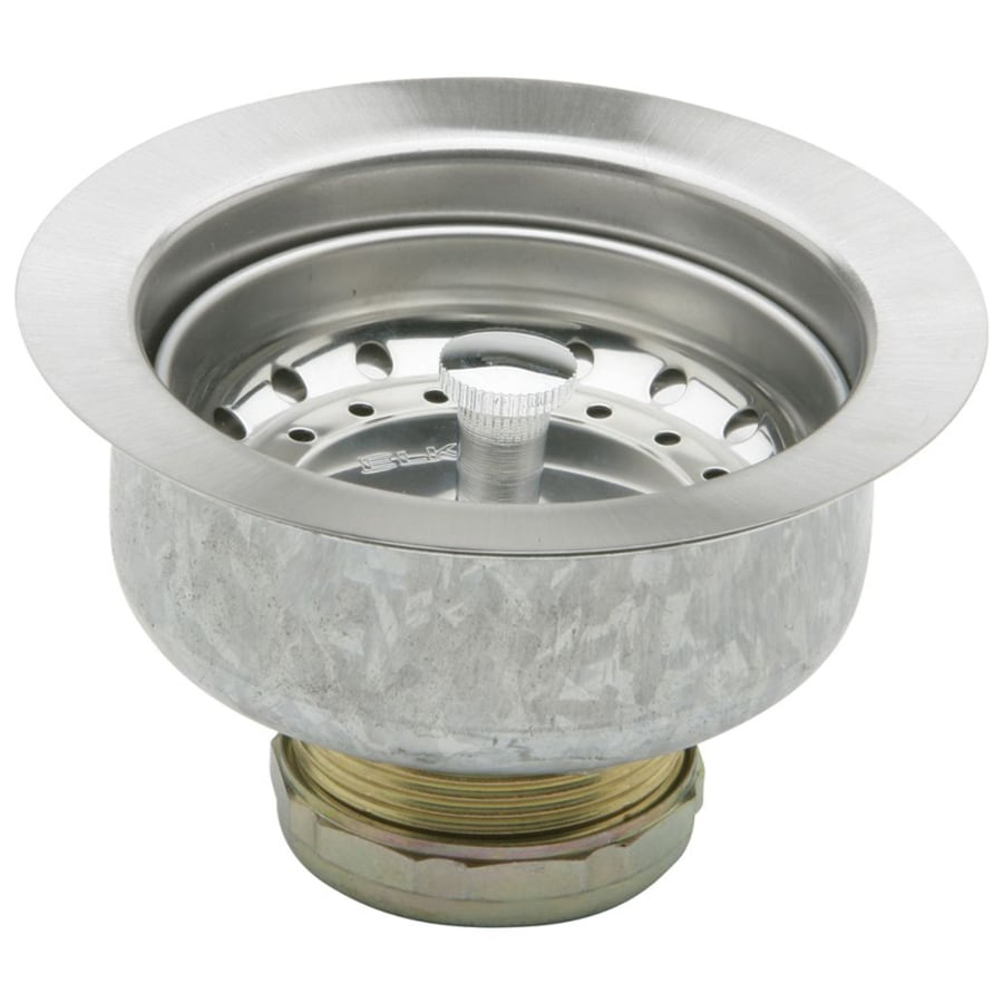 elkay dayton 44062 in stainless steel stainless steel fixed post kitchen sink strainer - Kitchen Sink Strainer