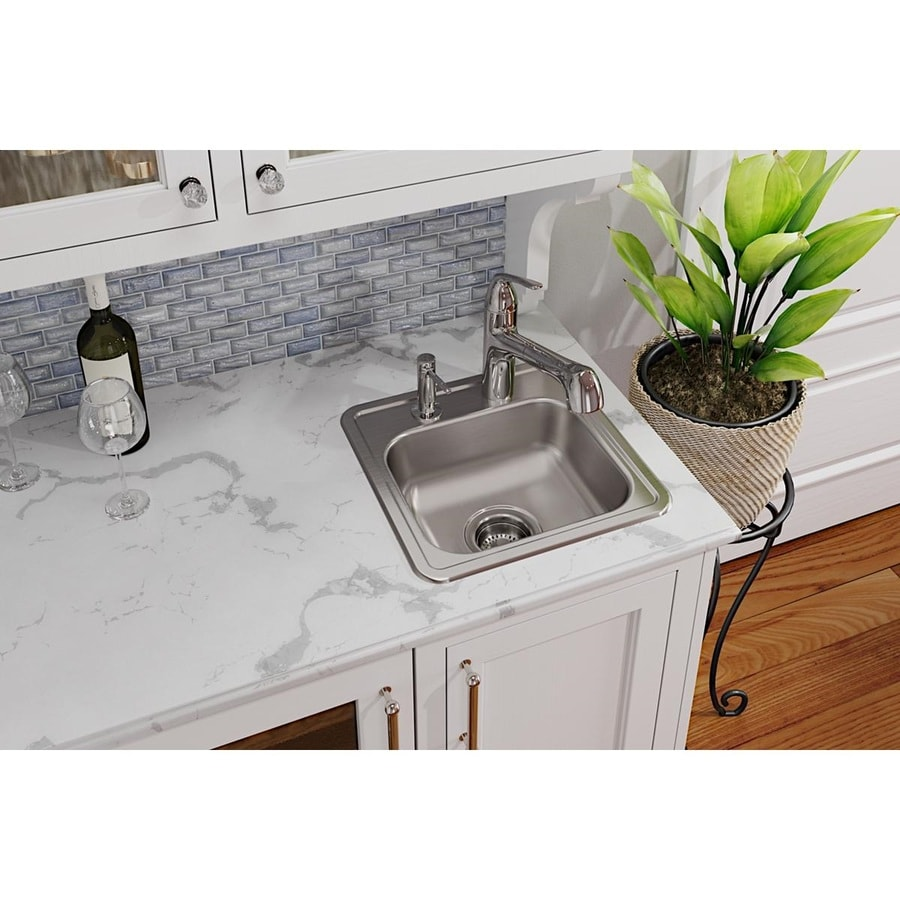 Elkay Dayton Satin 1-Hole Stainless Steel Drop-in Residential Bar Sink