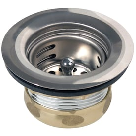 Delta Brushed Nickel Kitchen Sink Pop Up Drain In The Sink Drains Stoppers Department At Lowes Com