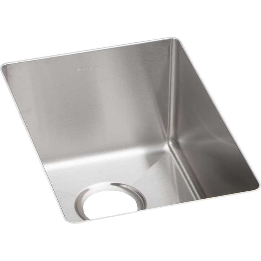 Elkay Crosstown 18.5-in x 13.5-in Polished Satin Single-Basin Stainless Steel Undermount Residential Kitchen Sink