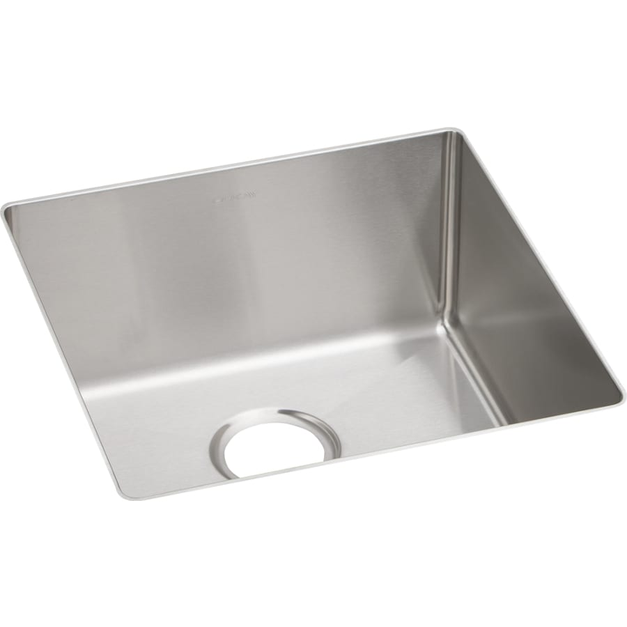 Elkay Crosstown 18.5-in x 18.5-in Polished Satin Single-Basin-Basin Stainless Steel Undermount (Customizable)-Hole Residential Kitchen Sink