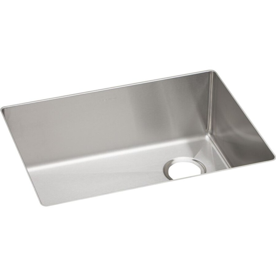 Elkay Crosstown 18.5-in x 25.5-in Polished Satin Single-Basin Stainless Steel Undermount Residential Kitchen Sink