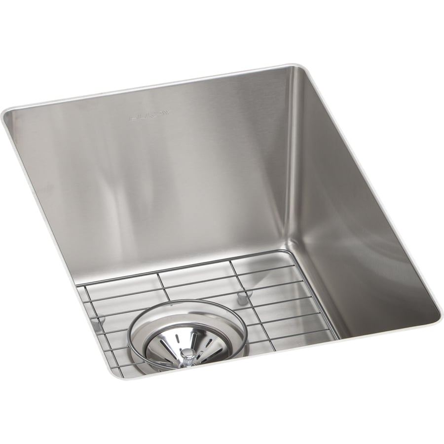 Elkay Crosstown 18.5-in x 13.5-in Satin Single-Basin-Basin Stainless Steel Undermount (Customizable)-Hole Residential Kitchen Sink