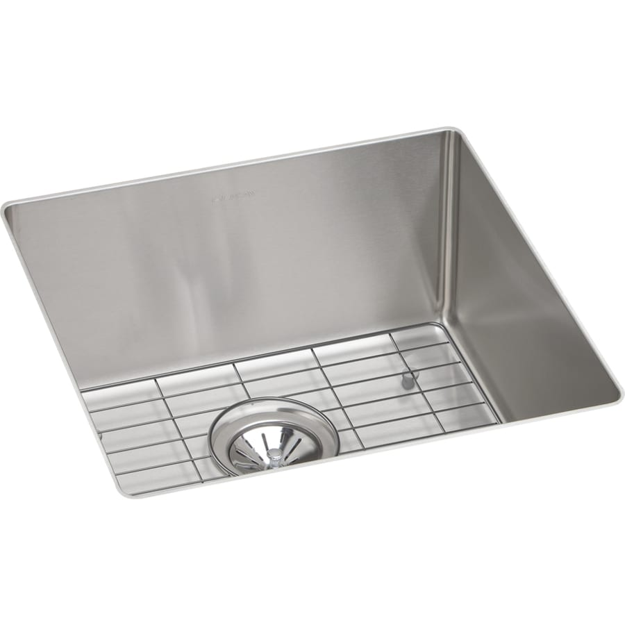 Elkay Crosstown 18.5-in x 18.5-in Satin Single-Basin Undermount Residential Kitchen Sink