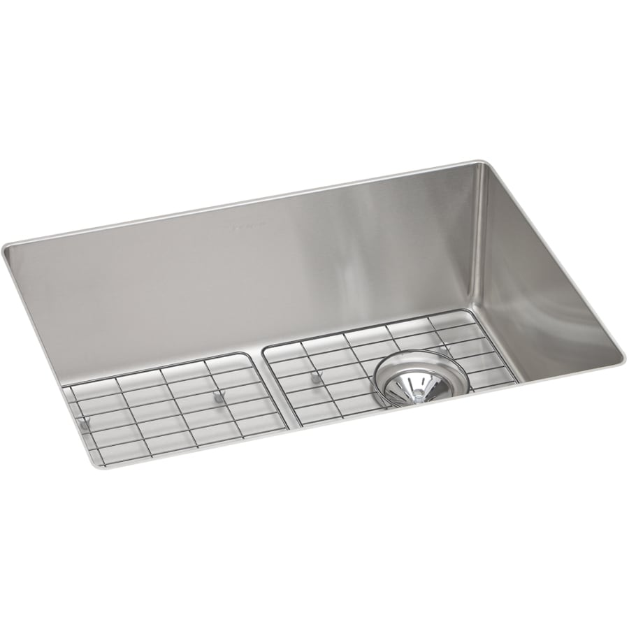 Elkay Crosstown 18.5-in x 25.5-in Satin Single-Basin Undermount Residential Kitchen Sink