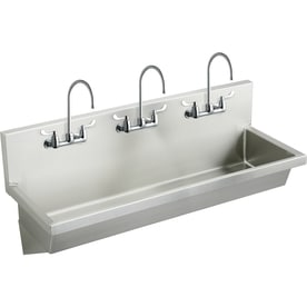 Elkay 20 In X 72 In Buffed Satin Wall Mount Stainless Steel Utility Tub