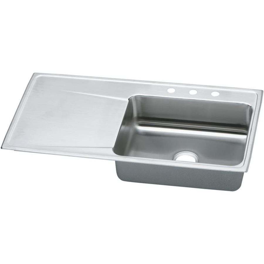 Elkay Gourmet 43 In X 22 Rous Highlighted Satin Single Basin Drop