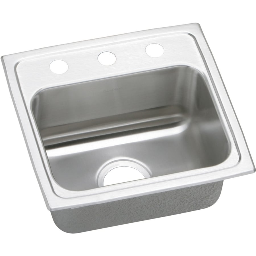 ... Basin Stainless Steel Drop-in 3-Hole Residential Kitchen Sink at Lowes
