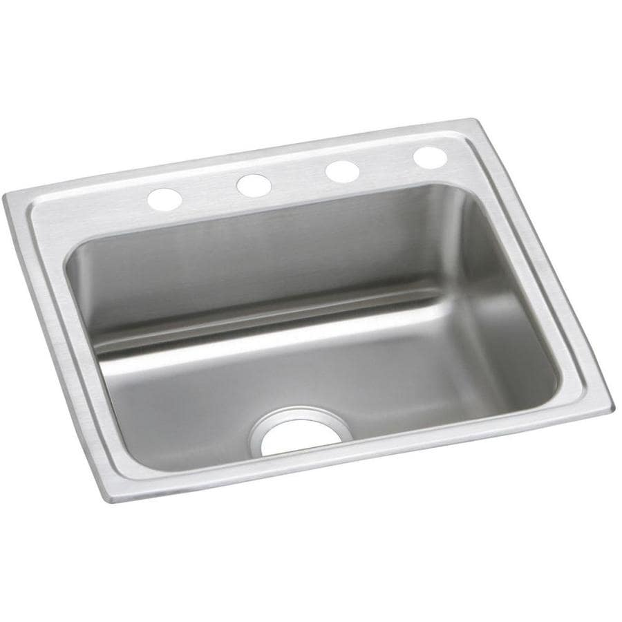elkay celebrity 22 in x 19 5 in brushed satin single basin drop in 2 rh lowes com