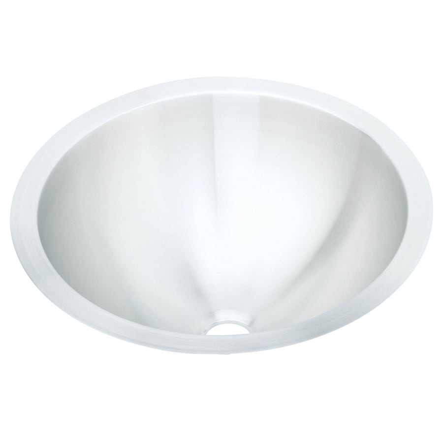 Elkay Asana Lustrous Highlighted Satin Stainless Steel Drop-In Round Bathroom Sink