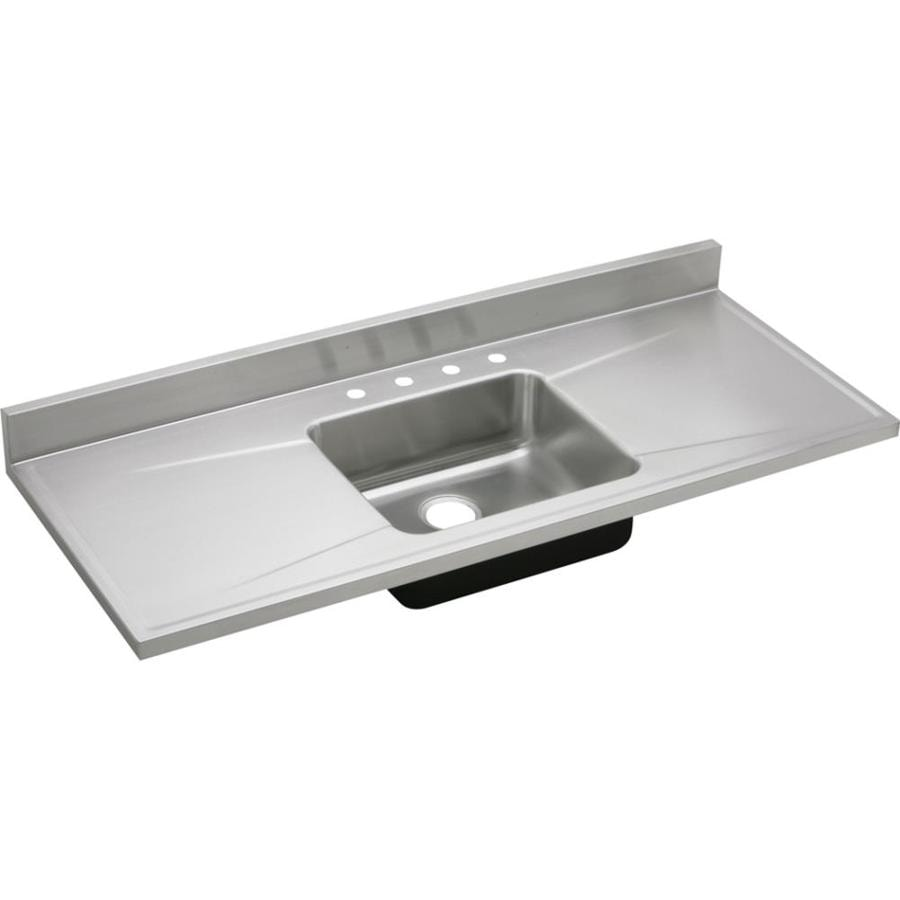 Exceptionnel Elkay Gourmet 60 In X 25 In Lustertone Single Basin Stainless Steel Drop