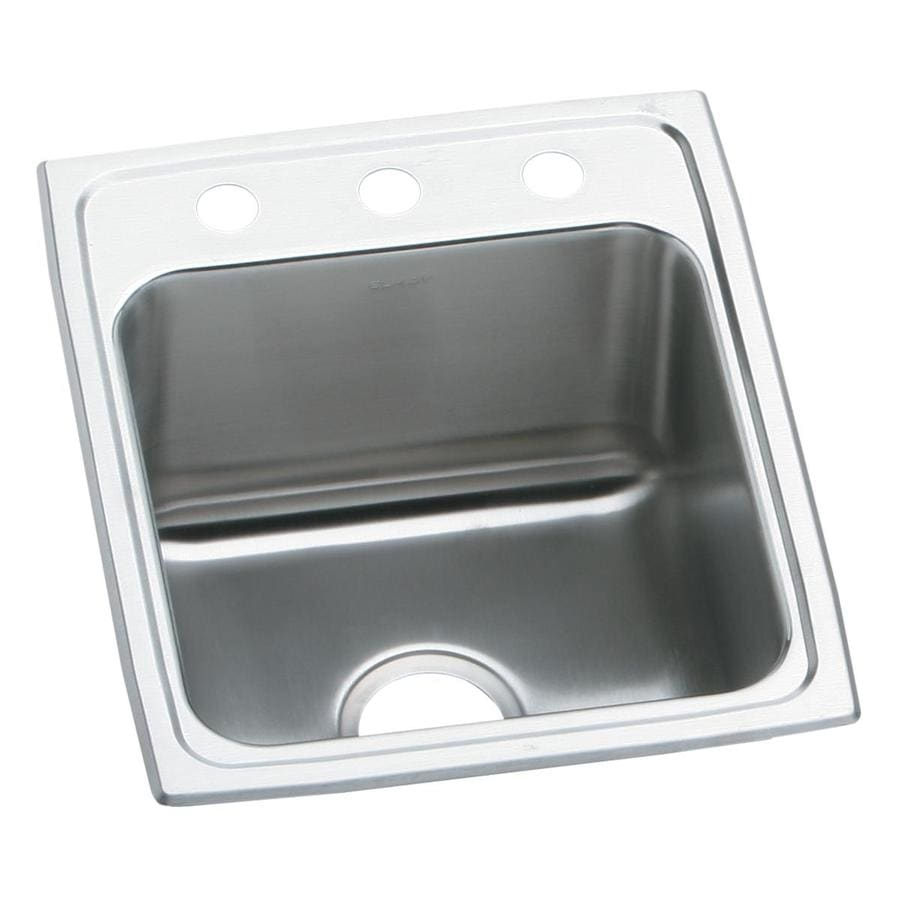 Elkay 17-in x 22-in Single-Basin Stainless Steel Drop-In Kitchen Sink
