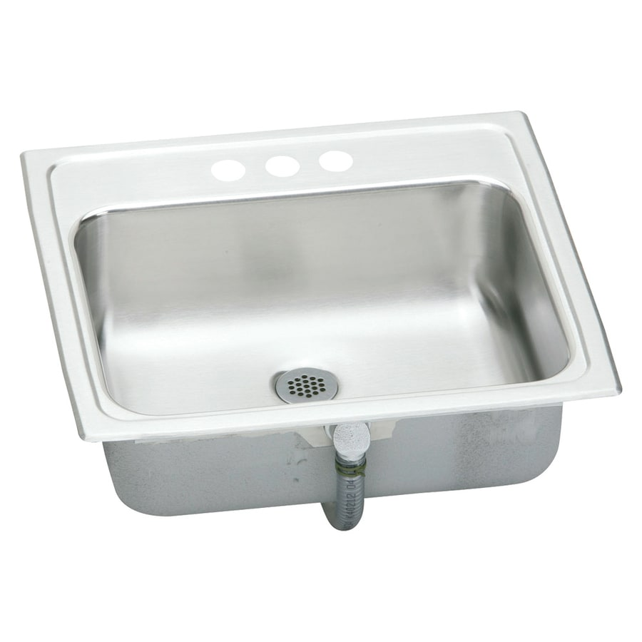 Elkay Asana Brilliant Satin Stainless Steel Drop-In Oval Bathroom Sink