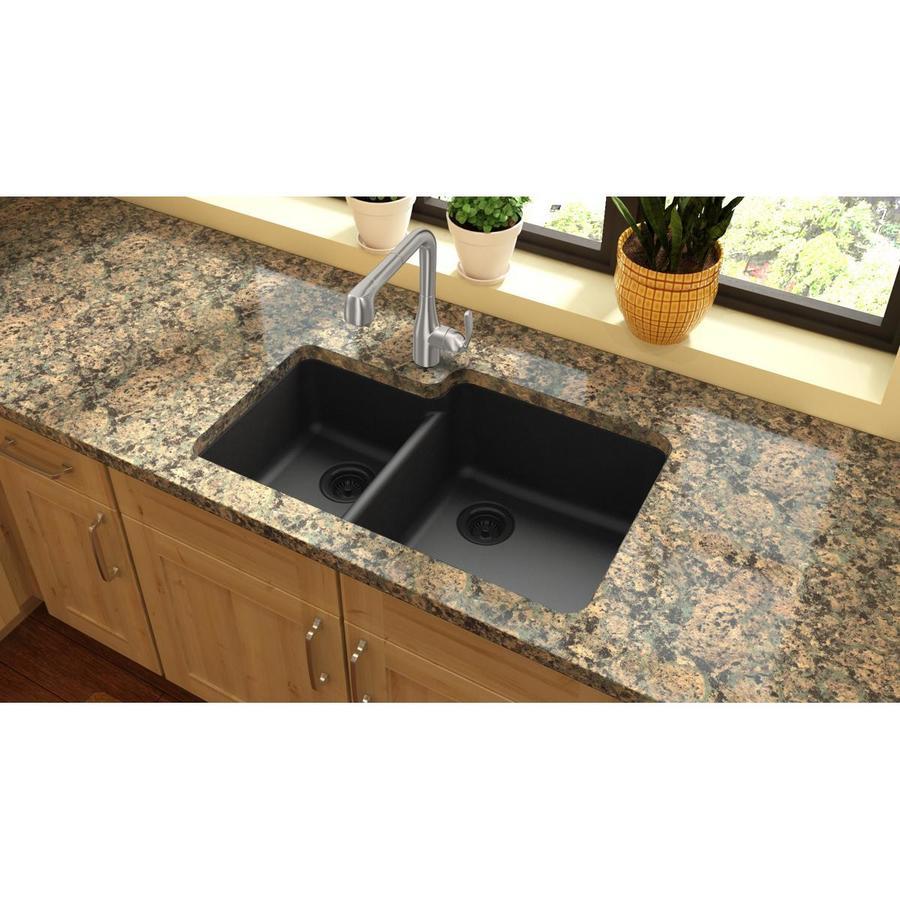 Quartz  X  Double Basin Undermount Kitchen Sink