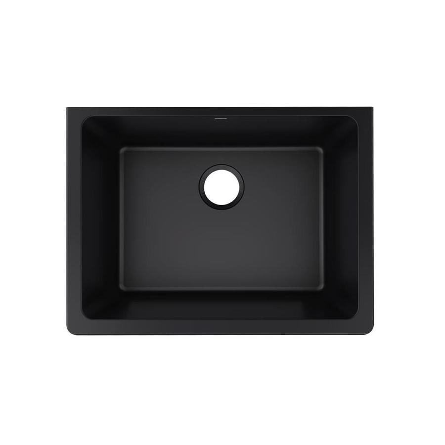 Elkay Gourmet 18.491 x 25.0 Caviar Single-Basin Undermount None (customizable)-Hole Kitchen Sink